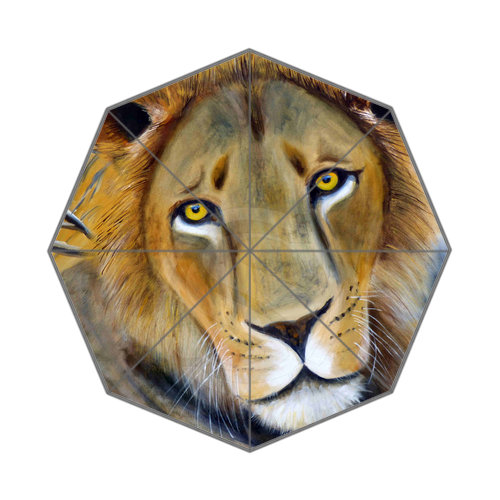 The king of the forest The lion Best Nice Cool Design Portable Fashion Stylish Useful Foldable Umbrella Free Shipping JR-011(China (Mainland))