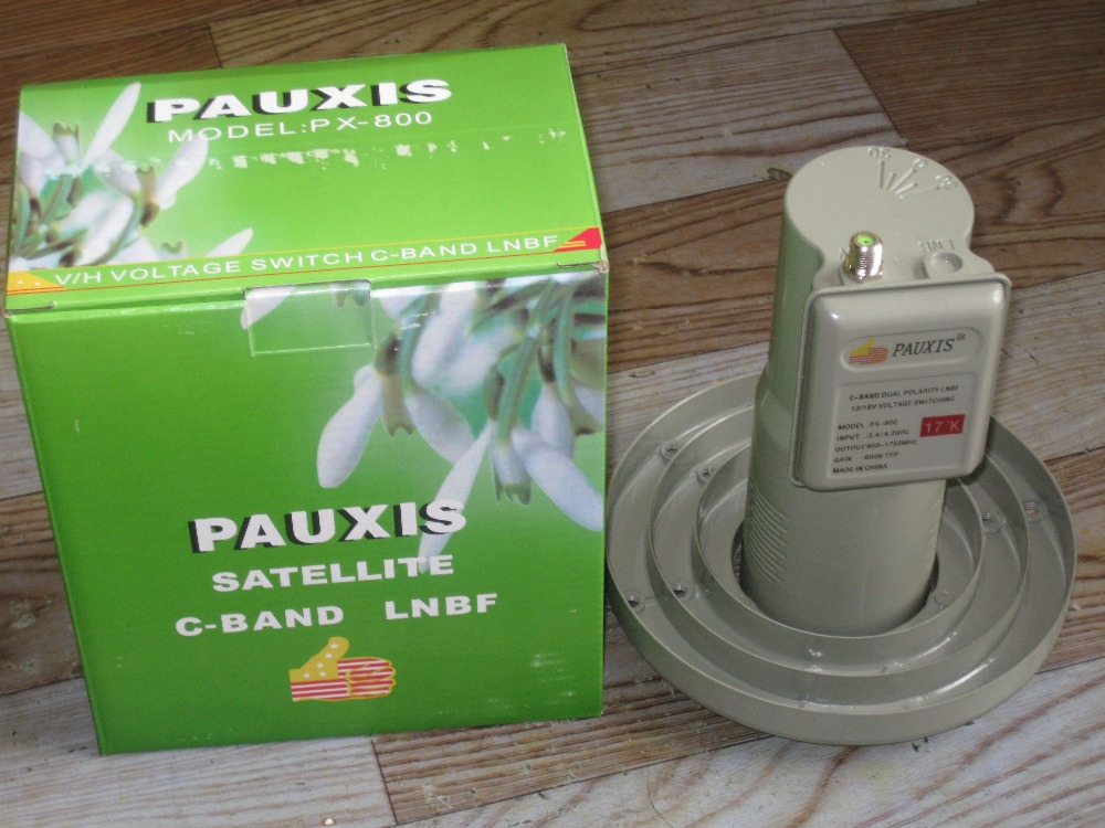 Free shipping,C band LNBF, V/H,13/18V Voltage Switch C-band, High Gain,PX-800, Satellite C Band LNB(China (Mainland))