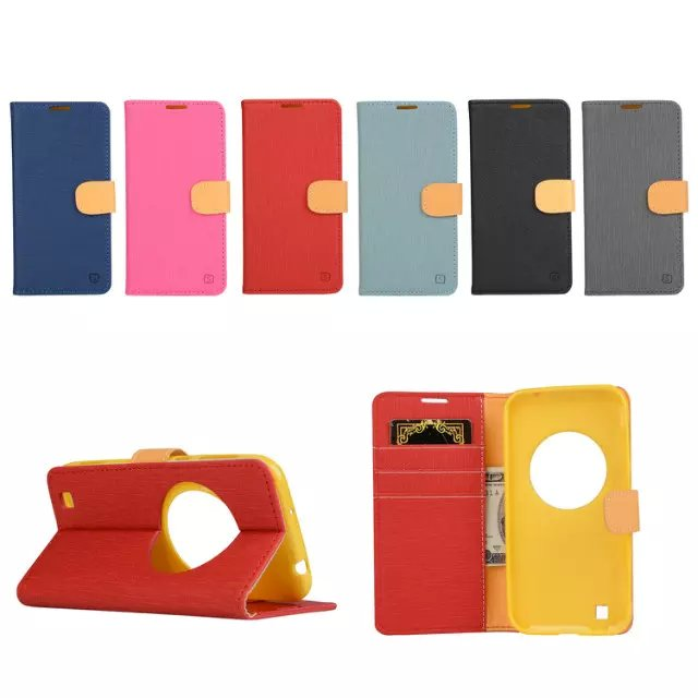 Leather Flip Case for ASUS Zenfone Zoom ZX551ML ZX550 Cover Colorful Series Phone Accessories(China (Mainland))