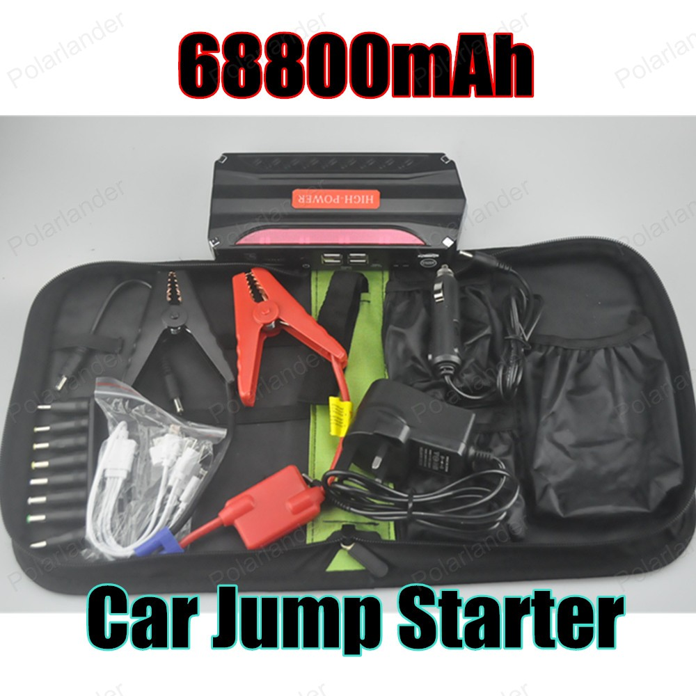 HIGH QUALITY Car jump Starter Super power 68800 mAh Free shipping car power bank(China (Mainland))