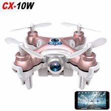 F17748 RC Quadcopter Cheerson CX-10W Wifi FPV 0.3MP Camera LED 3D Flip 4CH CX10 Mini Drone Helicopter Toy Gift