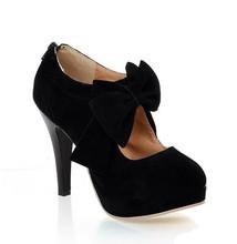 size big 34-43 new 2015 Fashion Platform High Heels Women Pumps Spring Summer Autumn Bowtie Women Shoes Woman No.A(China (Mainland))