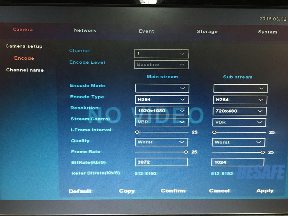 4Channel DVR 1080P Hybrid AHDVR 4ch for AHD-H CVI TVI camera P2P IP recorder ONVIF Network 8CH mini NVR H.264 for 2MP IP Camera