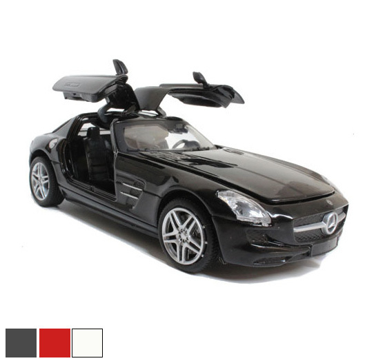 Toys hobbies car collections scale models 1:32 SLS opening door sound metal shell cars miniatures(China (Mainland))