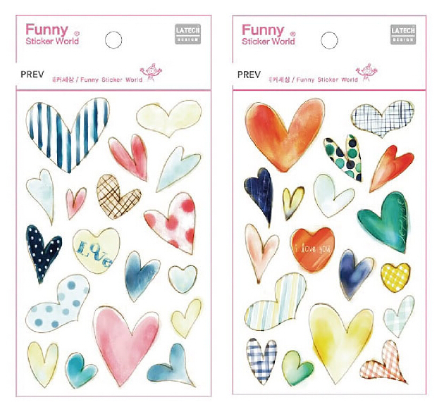 12sets of korea epoxy heart shapes sticker for scrapbooking,diary,album,funny decorative scrapbooking sticker(China (Mainland))