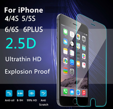 Premium Real Tempered Glass Film For Alppe iPhone 4 4S 5 5S 6 6S Plus Screen Protector protective film +Tools