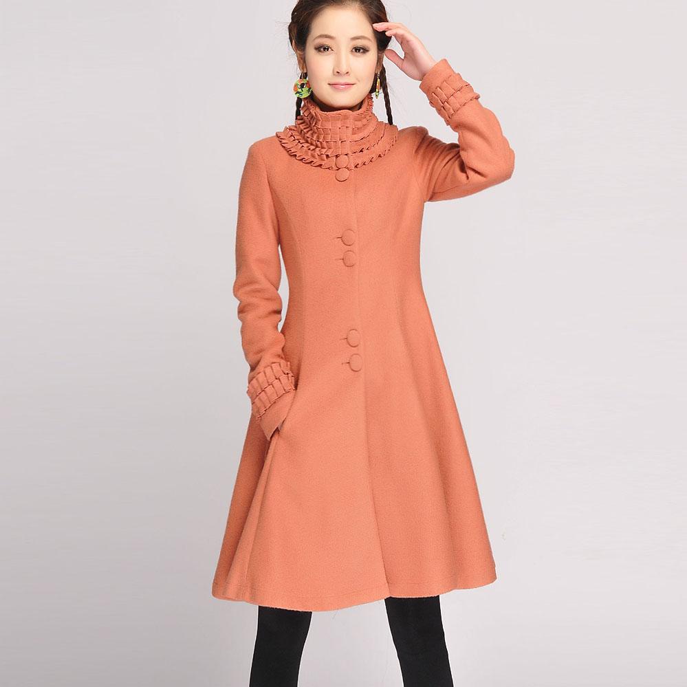 Slim long design patchwork wool woolen outerwear coarse wool flower coat button pocket long-sleeve national trendОдежда и ак�е��уары<br><br><br>Aliexpress