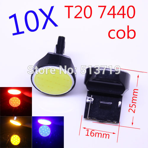 10X T20 led smd cob 7440 led W21W Car stop Backup Reverse light Rear Front signal Led White Red blue yellow 12V<br><br>Aliexpress
