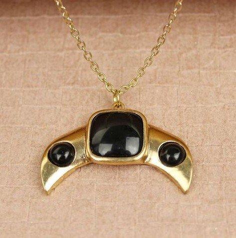 Женщин винтажный панк Oxhorn короткая ожерелье ювелирные изделия колье colares