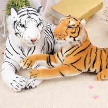 Cute Plush Tiger Animal Toys White Yellow Lovely Stuffed Doll Animal Pillow Children Kids Birthday Gift 25cm Z294(China (Mainland))