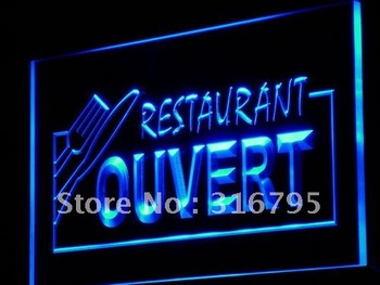 j184-b OUVERT Restaurant OPEN Food LED Neon Light Sign