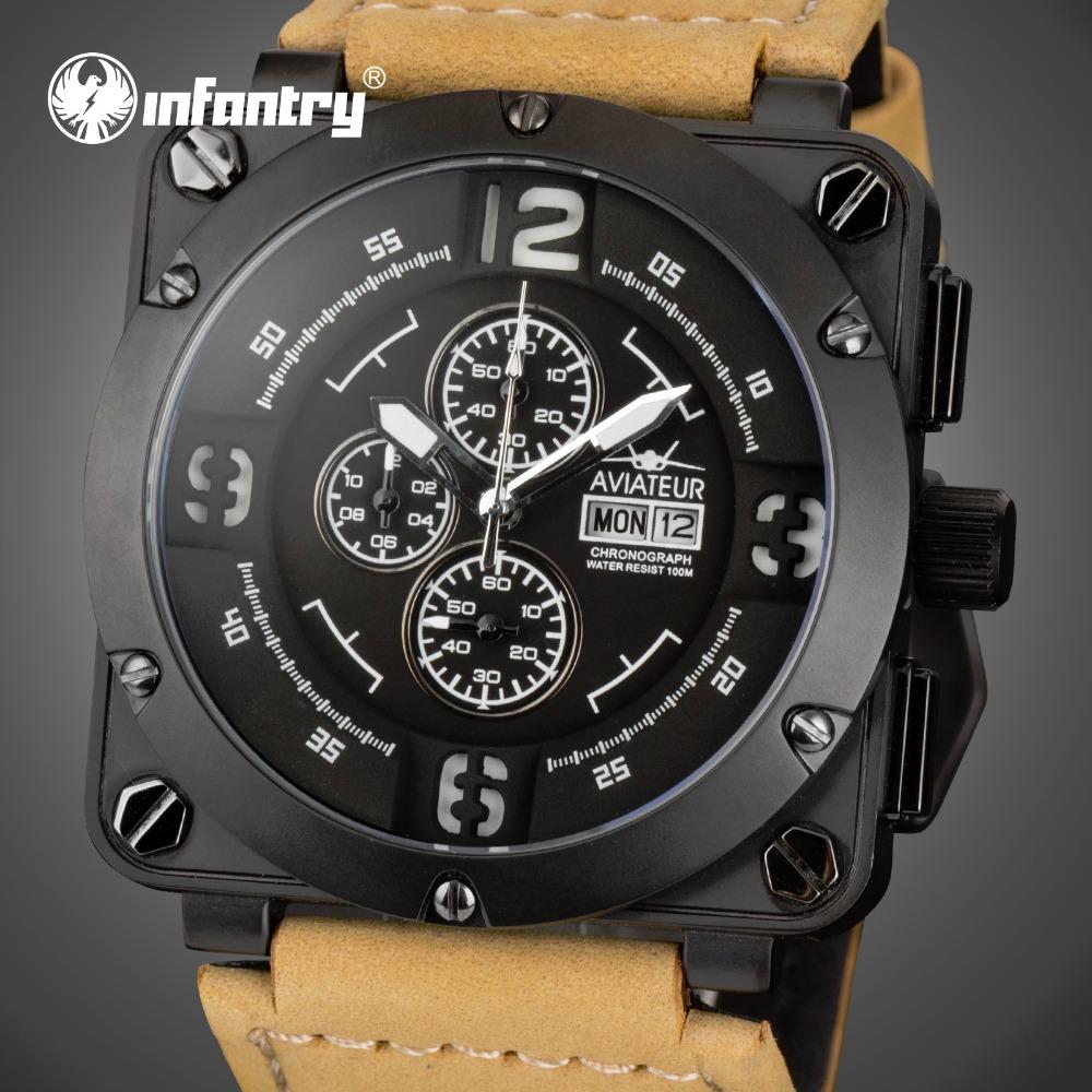 Infantry Aviateur Fashion Chronograph Sport Mens Watch
