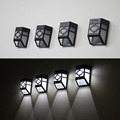 Solar Powered Wall Mount LED Light Outdoor Garden Path Landscape Fence Yard Lamp High Quality