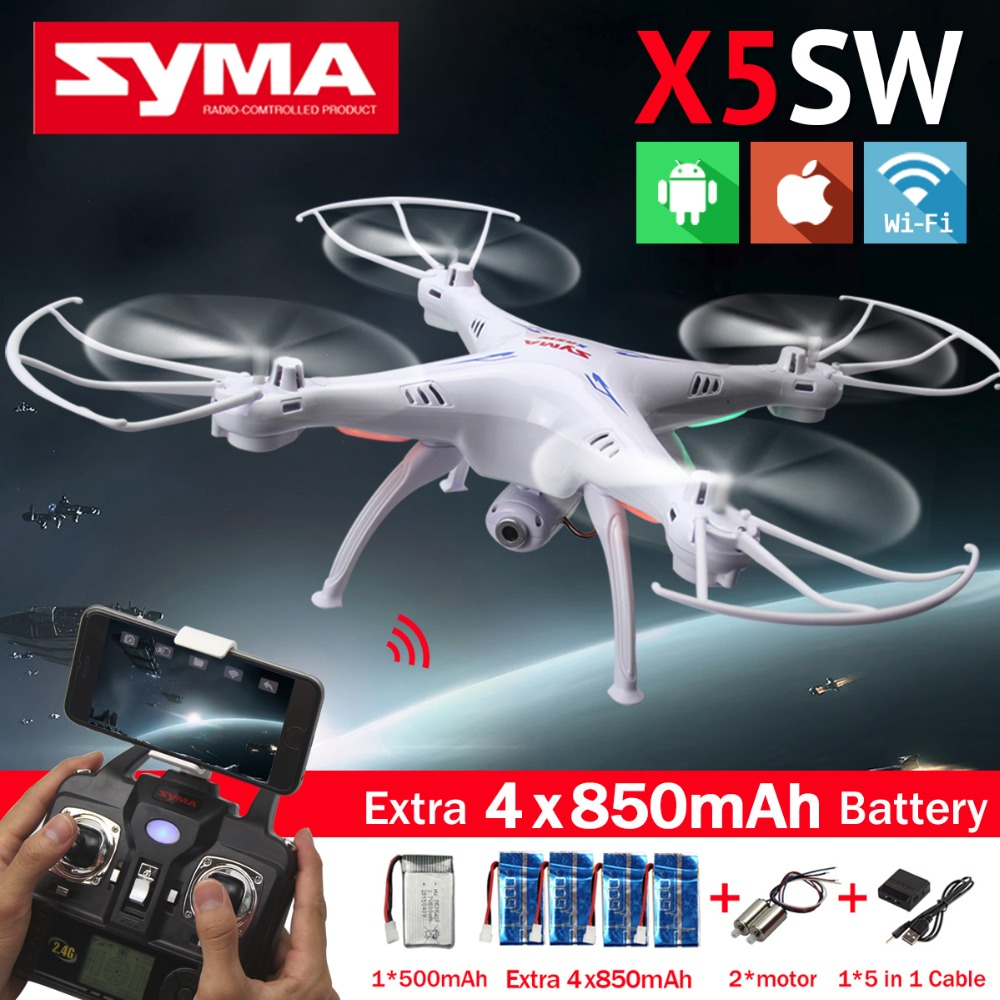 Hot! SYMA X5SW WIFI RC Drone FPV Quadcopter with 2.0MP Camera 2.4G 6-Axis Real Time RC Helicopter Quad copter Toys Free Shipping<br><br>Aliexpress