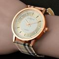 2016 New Brand geneva watch women wrist watches Women quartz watch Plaid Leather designer ladies clock