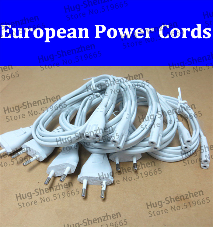 5Pcs Volex EU European 2-Prong Port AC Power Cord Cable For Mac Mini Router for apple TV PS2 PS3 Slim Power Cable(China (Mainland))