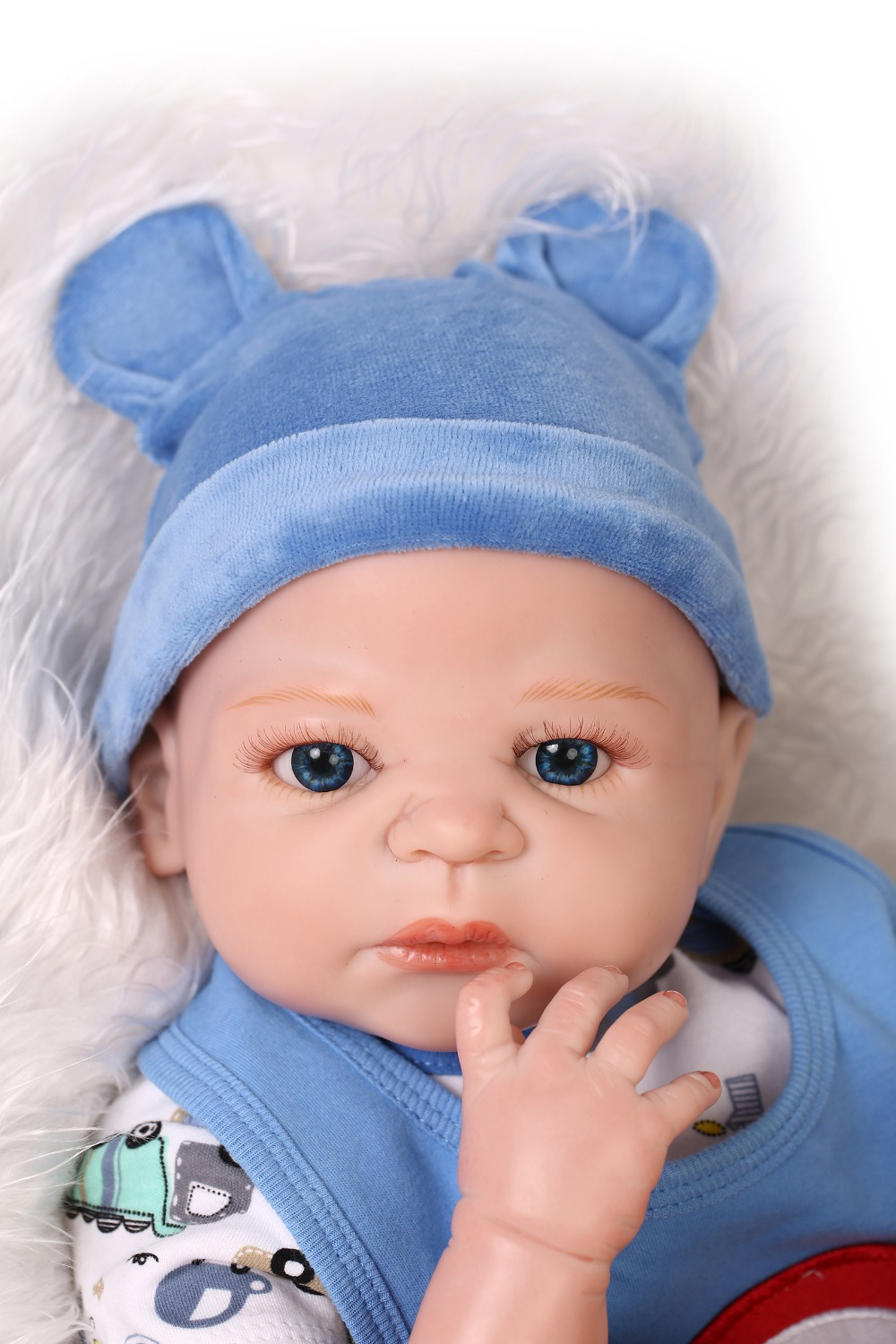 22 inches 55cm silicone baby reborn dolls, lifelike dolls reborn baby boy toy gifts prince brinquedos children's toys!(China (Mainland))
