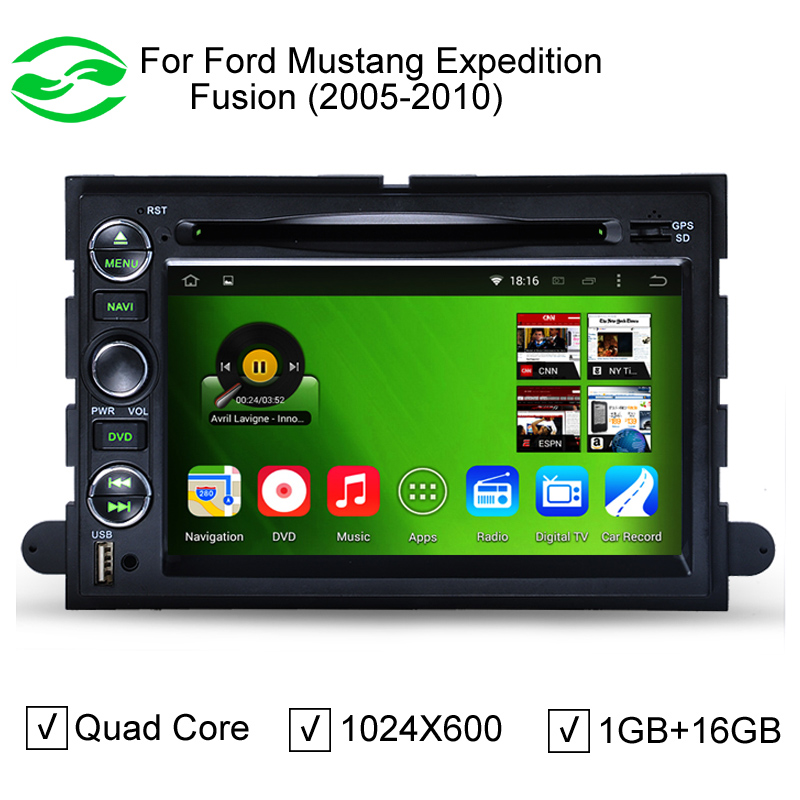 HD 1024*600 Pure Android 5.1.1 Capacitive Screen Car DVD GPS For Ford Focus Fusion Expedition F150 F500 Escape Edge Mustang(China (Mainland))