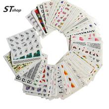 50 Blätter Mixed Designs Wassertransfer Nail Art Aufkleber Wasserzeichen Decals DIY Dekoration für Schönheit Nagel Werkzeuge zufällige Muster M50(China (Mainland))