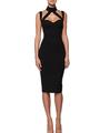 2015 женщин белый черный-плеча вырезать оливковое платье повязки сексуальные женщины платье хлоя кардашян платье прямая поставка