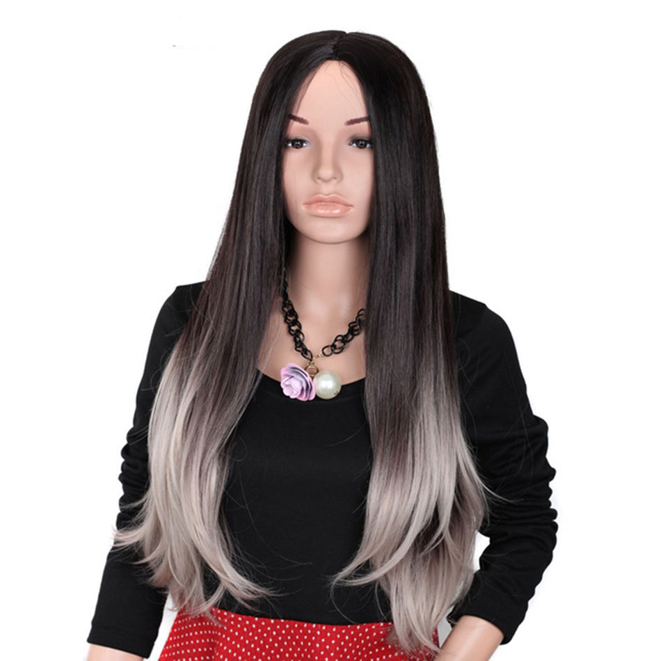TOP Quality Synthetic Lace Front Wig Heat Resistant African American Synthetic Lace Wig for Black Women Two Tone 1b to Blonde