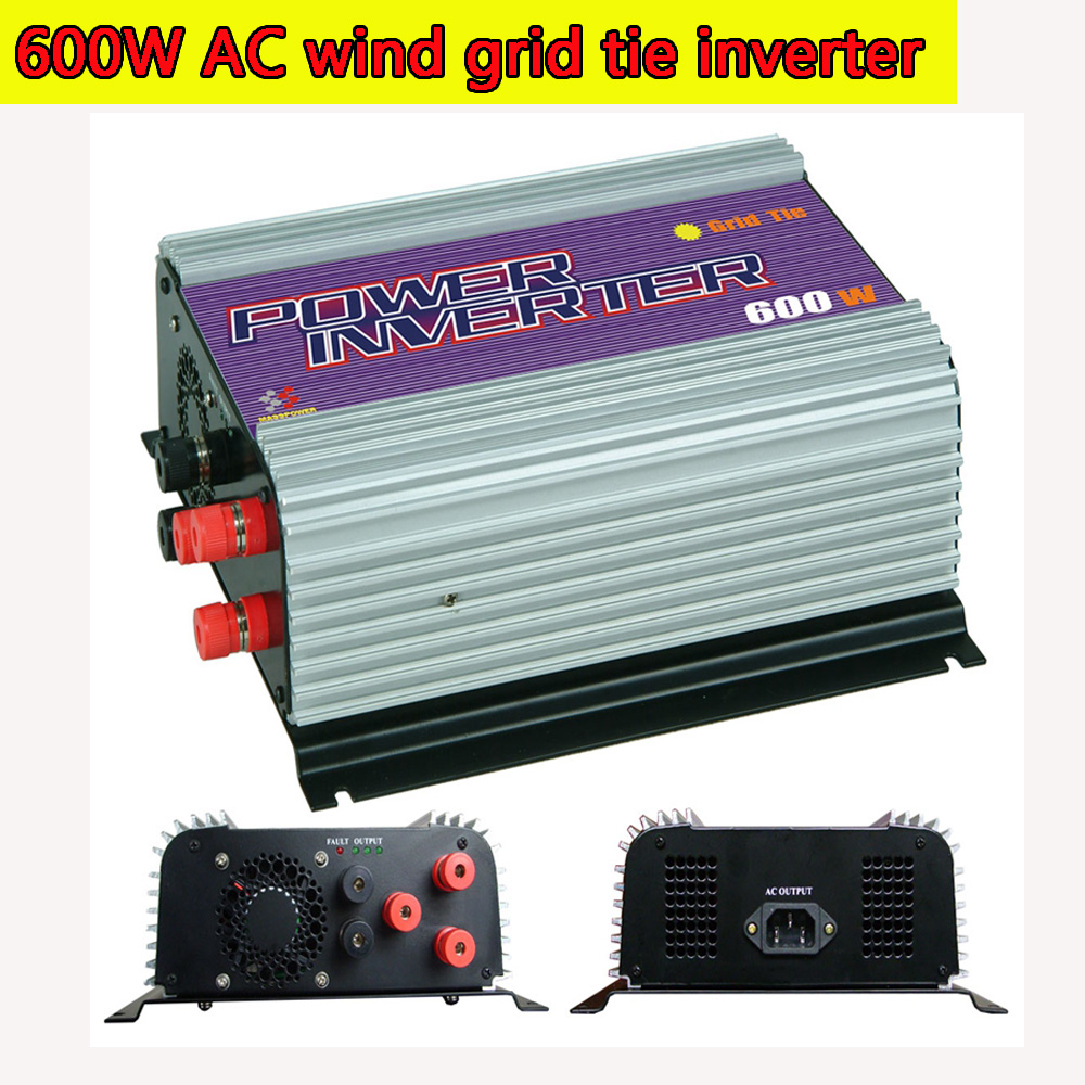600W Grid Tie Inverter with Dump Load for 3 Phase AC Wind Turbine Generator MPPT Pure Since Wave Wind On Grid Inverter NEW(China (Mainland))