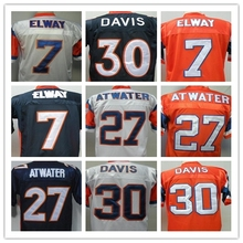 SexeMara John Elway Terrell Davis Steve Atwater Men's Throwback Jersey Size 48-56(China (Mainland))