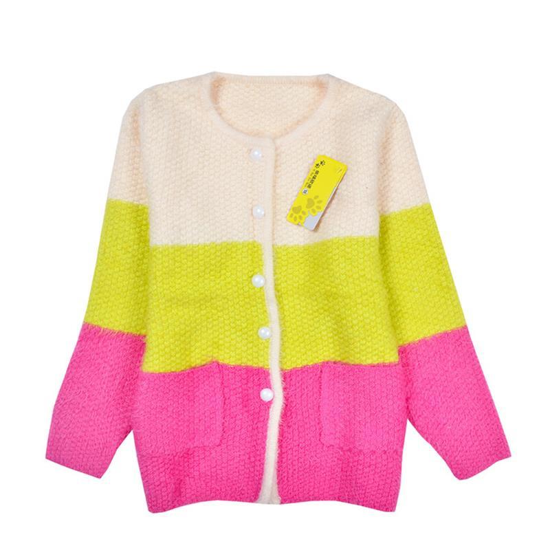 New girls sweater Children autumn winter sweater coat spell color children cardigan sweater girls, long sleeved kids sweater<br><br>Aliexpress