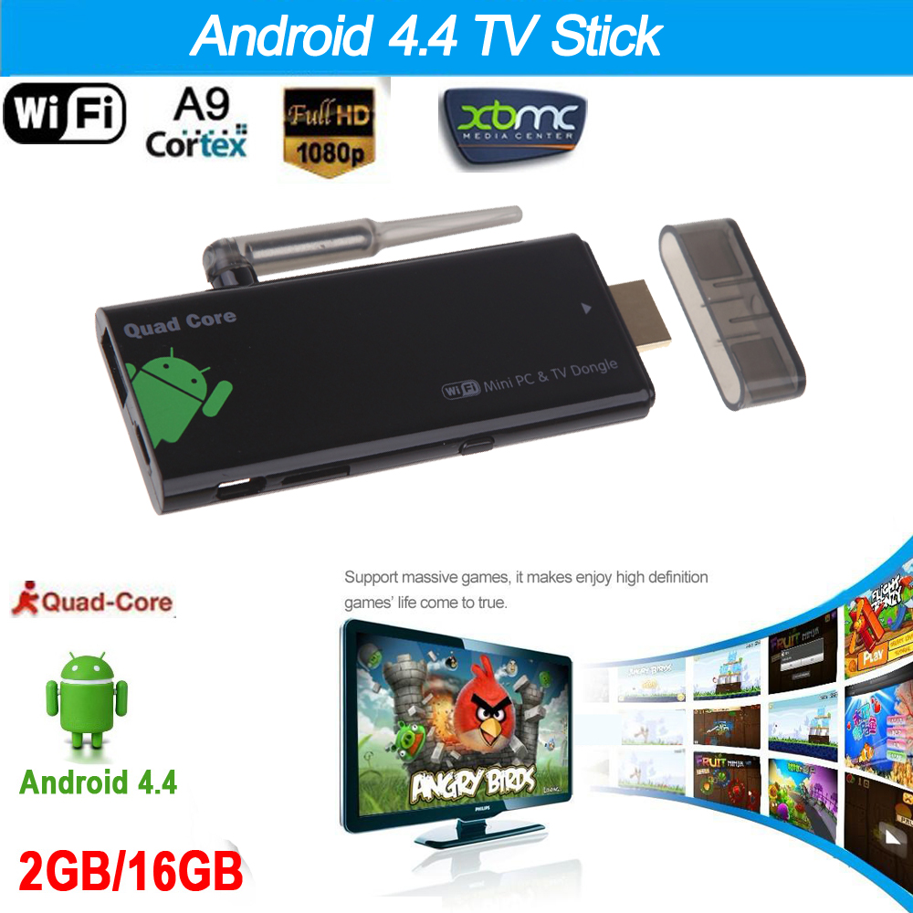 Quad Core CX919 Android 4.4 TV Stick 2G/16G with XBMC DLAN External WiFi Antenna Bluetooth 4.0 1080P Mini PC Box tv Dongle(China (Mainland))