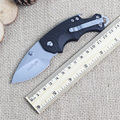 Pocket Folding Knife steel blade fiber grip outdoor camping knife titanium tactical lifter utility rescue equipment