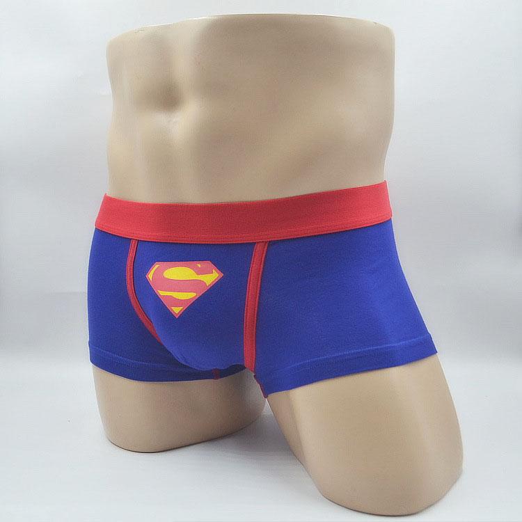 New Men Cartoon Underwear Sexy Mens Superman Boxer Men'S Boxers Man Brand Trunks Gay Underpant M L XL
