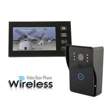 """7 """" 2.4 GHz sans fil téléphone visuel de porte Vidoe interphone sonnette accueil sécurité IR moniteur de caméra de Vision nocturne 150 M Transmission(China (Mainland))"""
