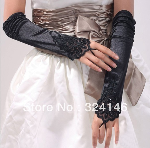 cheap New design black Bridal gloves Wedding Gloves fingerless gloves wholesale