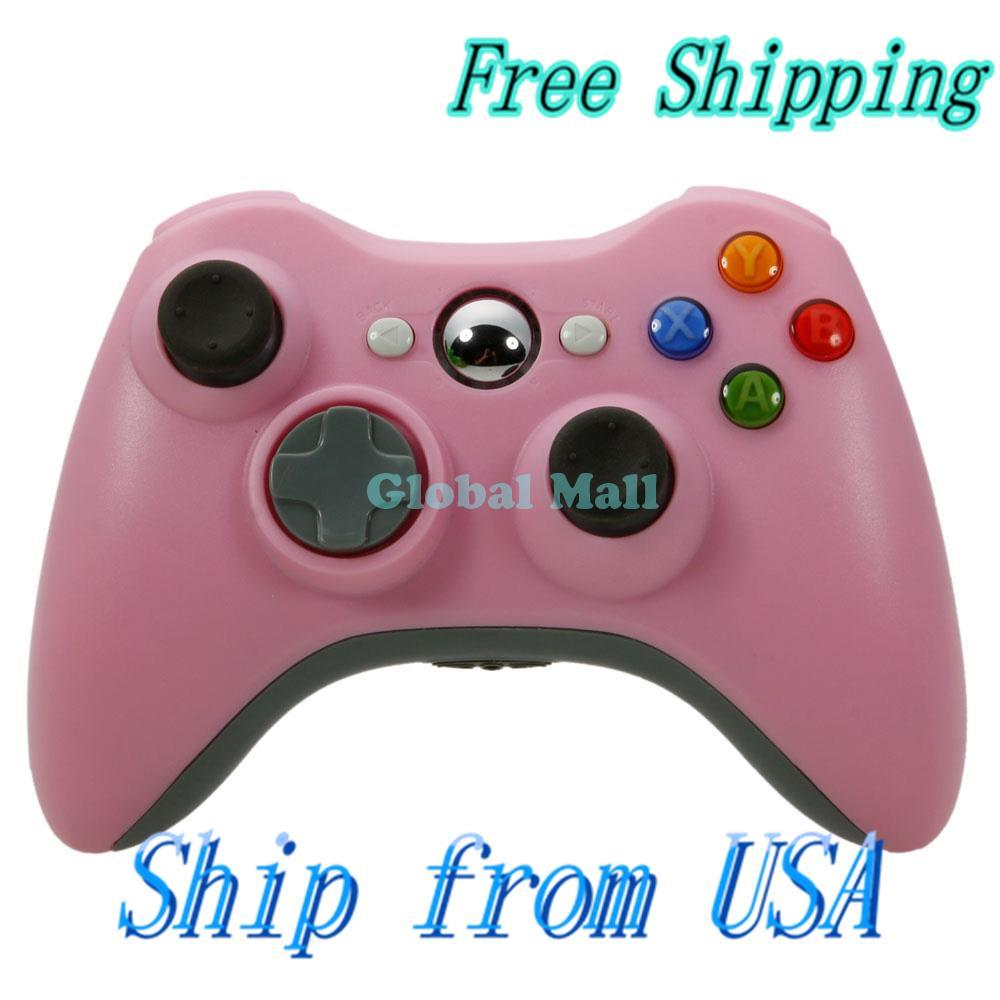 Ship From USA ABS Wireless Game Controller for Xbox 360 / PC Pink 84004951(China (Mainland))