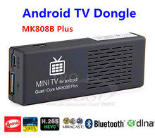 TV Dongle Stick  MK808B Plus Quad-Core Amlogic M805 1G+8G Bluetooth Android 4.4 OS H.265 Android smart tv Free Shipping(China (Mainland))