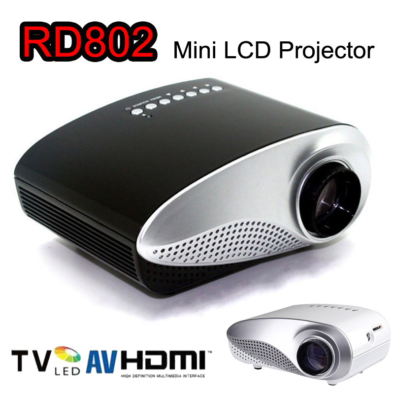 Rd 802 24w led hd home mini projector w hdmi vga usb for Miniature projector