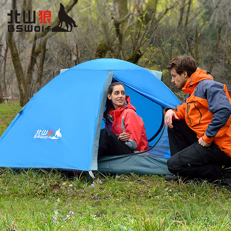 Famous Brand BSWolf Outdoor Tents 2 Persons Waterproof Carpas CampingTent Tourist For Hiking/Fishing Tent Travel Free Shipping(China (Mainland))