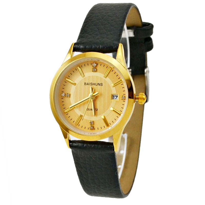 Orologio Donna BAISHUNS Watch Women Leather Strap Quartz ...