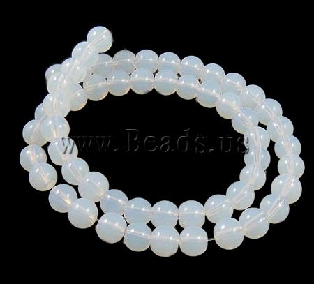 !!Round Crystal Beads,Clearance, White Opal, 6mm, Hole:Approx 1.5mm, Length:12.5 Inch, 10Strands/Bag, Sold Bag - alloy- Milky Way Jewelry store