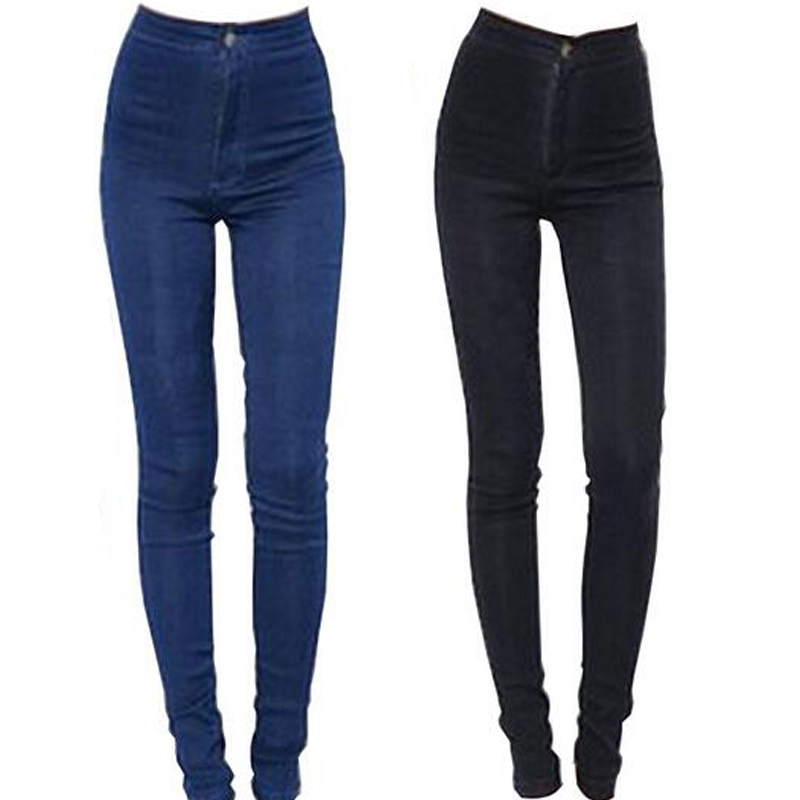 2015 new fashion jeans women pencil pants high waist jeans sexy slim elastic skinny pants. Black Bedroom Furniture Sets. Home Design Ideas