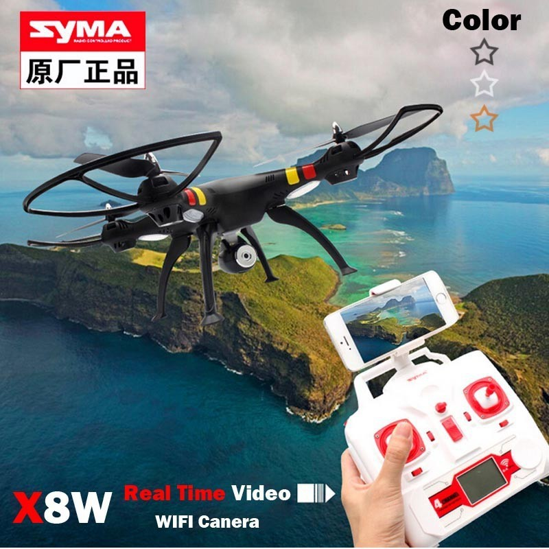 Syma X8W FPV WiFi Real Time 2.4G 4ch 6 Axis with 2MP RC Quadcopter RC helicopter fit for Gopro Hero 3 4 and Xiaoyi action camera<br><br>Aliexpress
