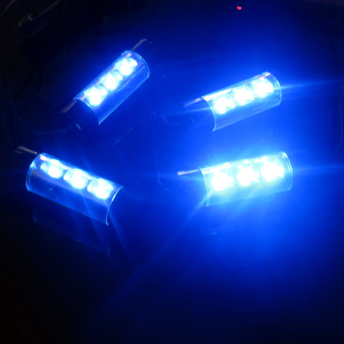 universal automobile 4in1 blue led dc 12v car auto floor interior decorative glow blue light. Black Bedroom Furniture Sets. Home Design Ideas