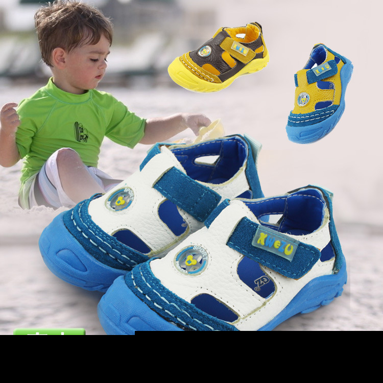 2015 summer style child sandals children leather sandals for infant toddler boys kids shoes high quality size 21-25 yards(China (Mainland))