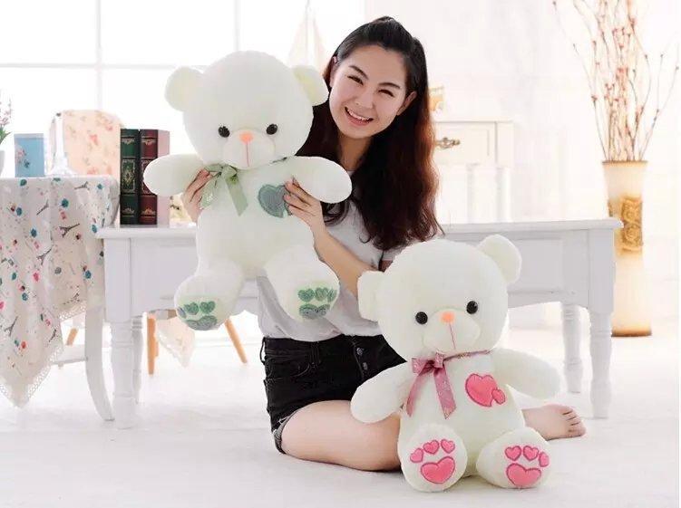 heart teddy bear plush toy gift lover's factory supply - Shanghai Haoran International Trade Co.,LTD store