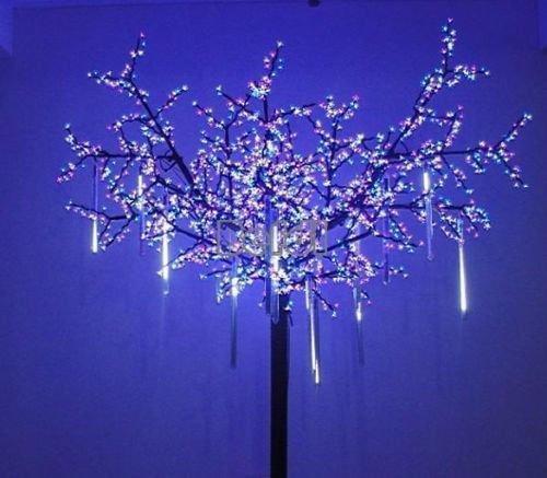 led icicle light with end plug led christmas tree light Party Garden Decoration 4m 96led AC 220v EU Plug 5pcs/lot curtain lights(China (Mainland))