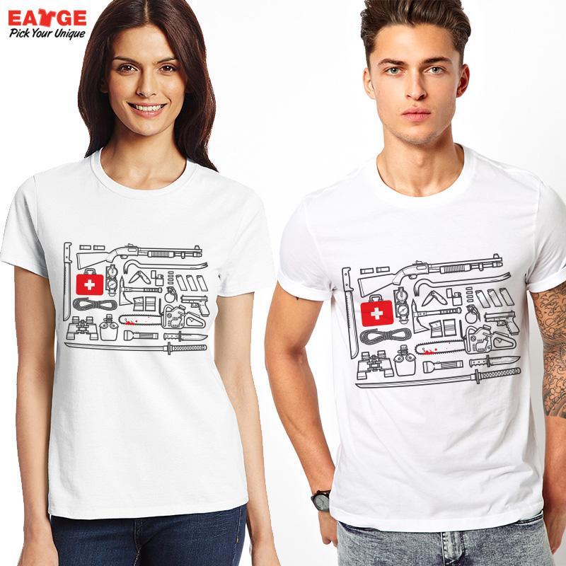 2016 Popular American Drama Creative Pattern T Shirt Funny Tool Kit Set Printed Tshirt Fashion women Short Sleeve T-shirt(China (Mainland))