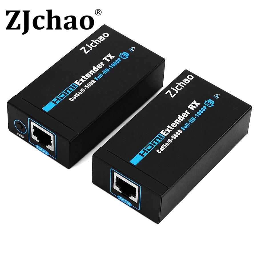 NEW 1 Pair 1080P HDMI Ethernet Network Transmitter Receiver Sender Rj45 Extender TCP/IP TX/RX 60M for Cat5/Cat6 HDTV TV(China (Mainland))