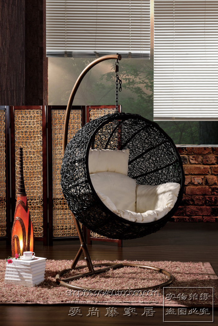 Rattan swing rattan hanging basket hanging chair rocking chair leisure pictures to pin on pinterest