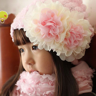 Sweet Lovely Cute Princess Children Kids Girls Baby Hat Beanie Pink New Lace Floral caps M07 - Lucinda's Potato store