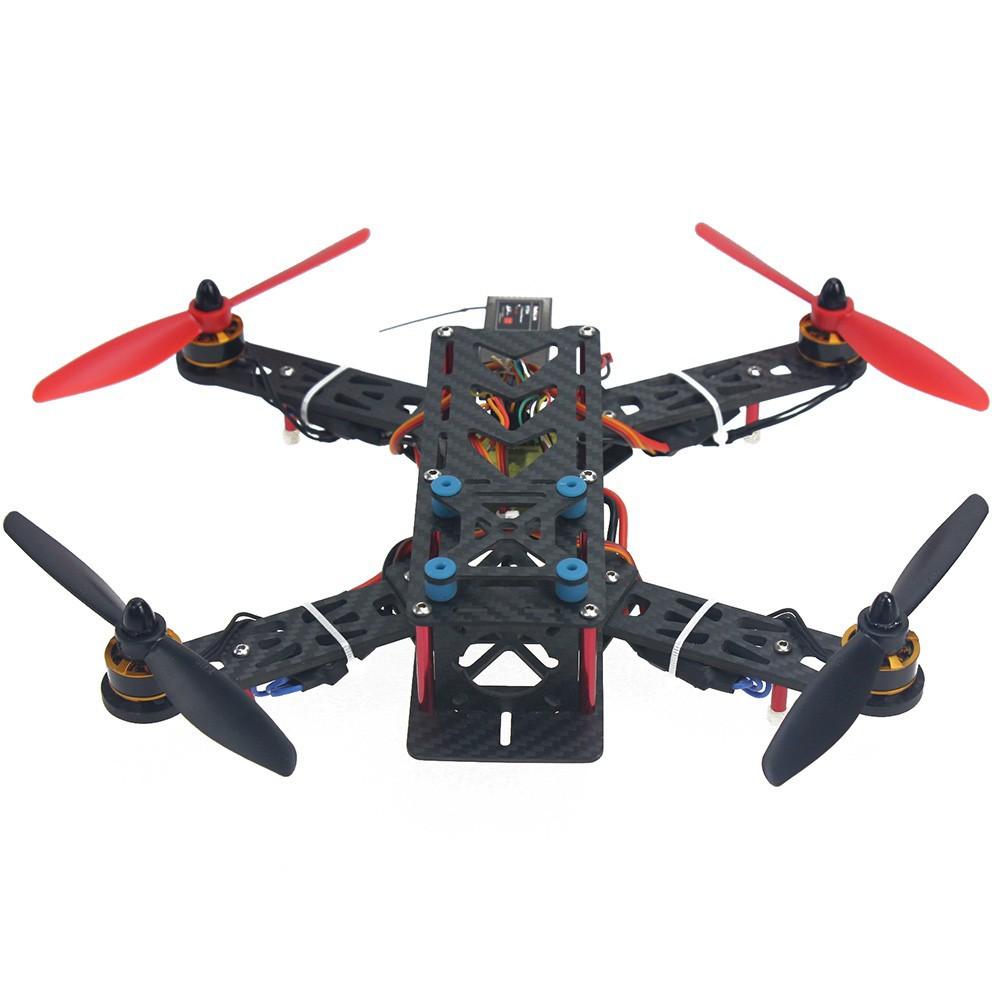 JMT Assembled Full Kit 250mm Q250 PRO Carbon Fiber RFT RC Drone Quadcopter Multirotor with Transmitter Battery F11858-M